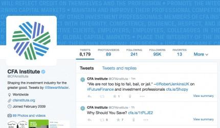 @CFAinstitute Twitter Profile