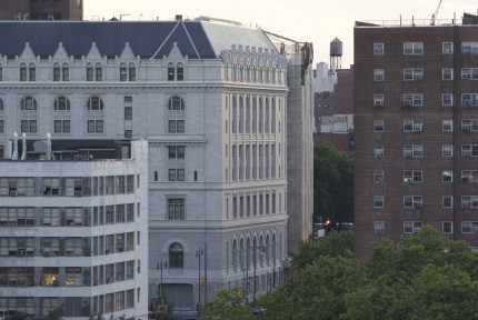 Federal Building & Concord Village from rooftop, 250 Gold Street, Brooklyn