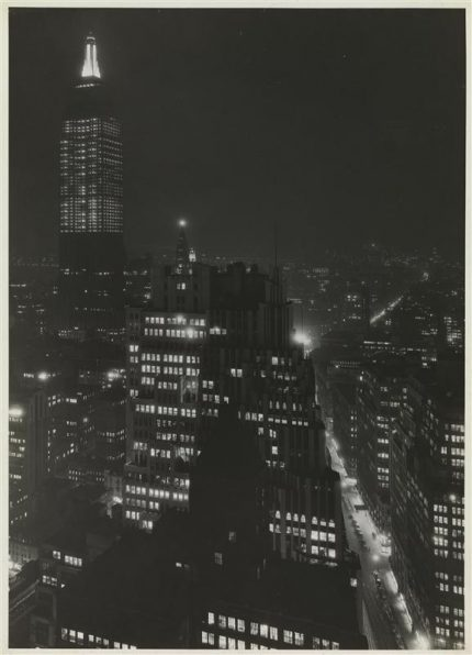 Looking towards Empire State from 41st Story, Continental Building, c. 1930