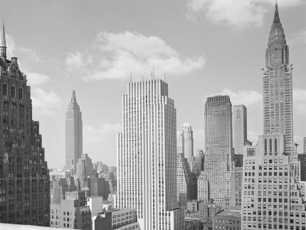 New York City. View from Rooftop in Tudor City, 1941