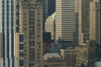 Towers Surrounding Grand Central Terminal from 38th floor, Empire State Building