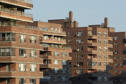 East River Houses from rooftop, 550 Grand Street