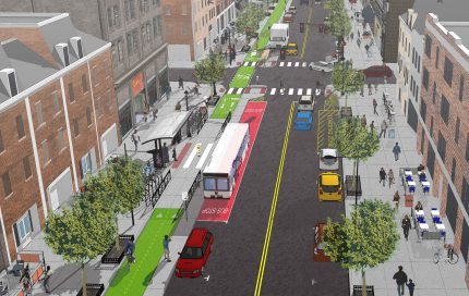 Washington Street bird's-eye view rendering