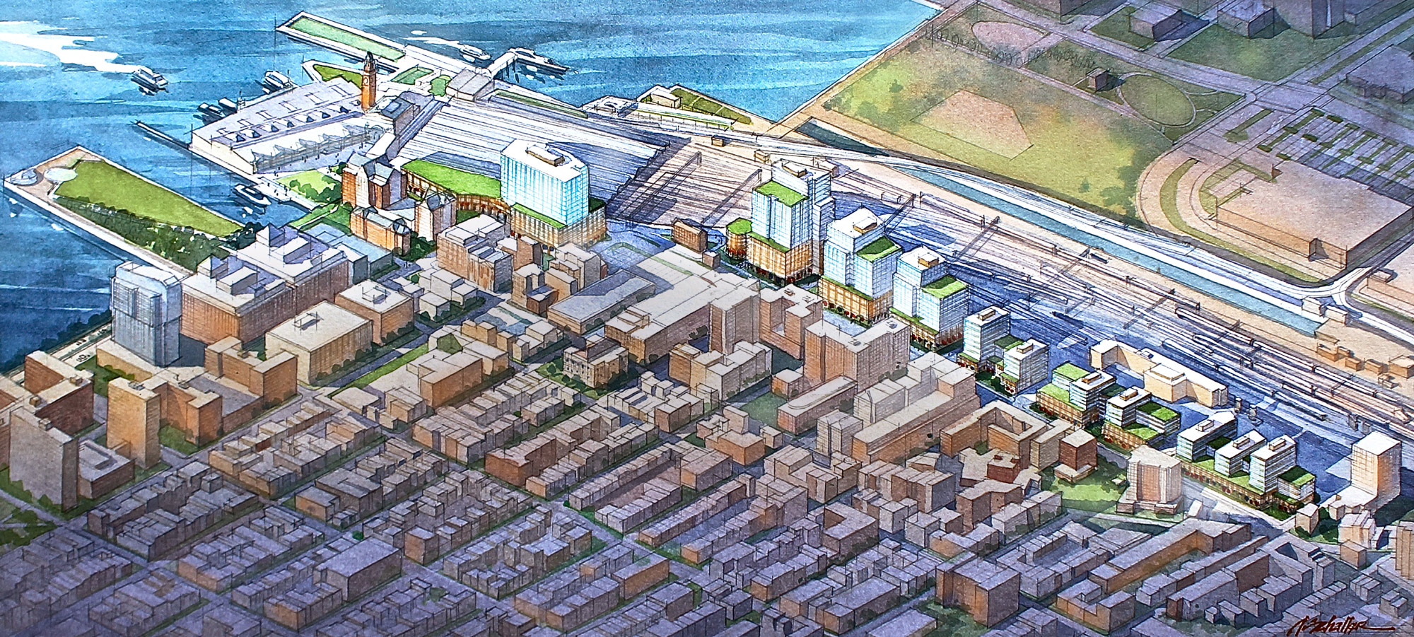 Hoboken Yards Illustrative Rendering