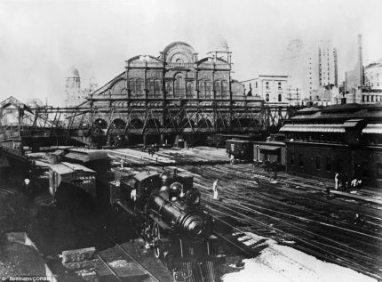 Grand Central Station rail yards, 1890s