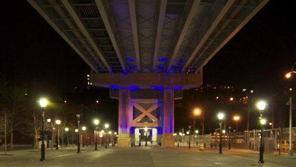 Hoboken 14 St Viaduct at Night