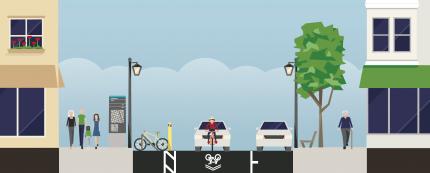 Streetmix: First Street Streetscape