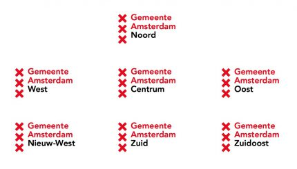 Gemeente Amsterdam logo with subbrands