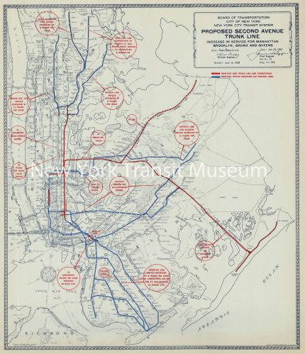 1947 NYC Board of Transportation map