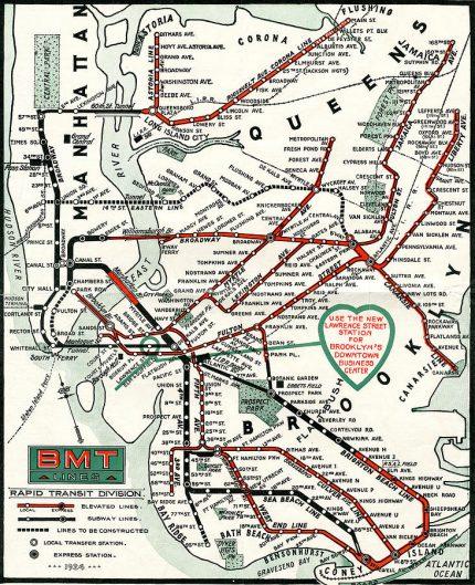 1924 BMT Subway Map