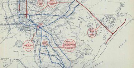 1950 board of transportation map