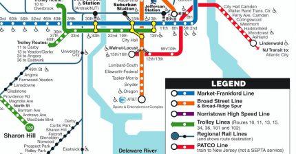 Seamless Transit: PATCO Speedline on SEPTA Rail Transit Map