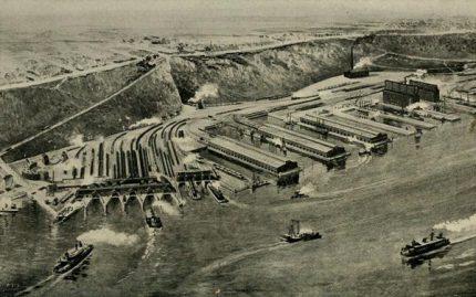 West Shore Railroad Terminal, Weehawken, NJ. c. 1911