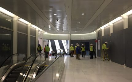 Inspections and finishing touches on the South Concourse and escalators to street level.