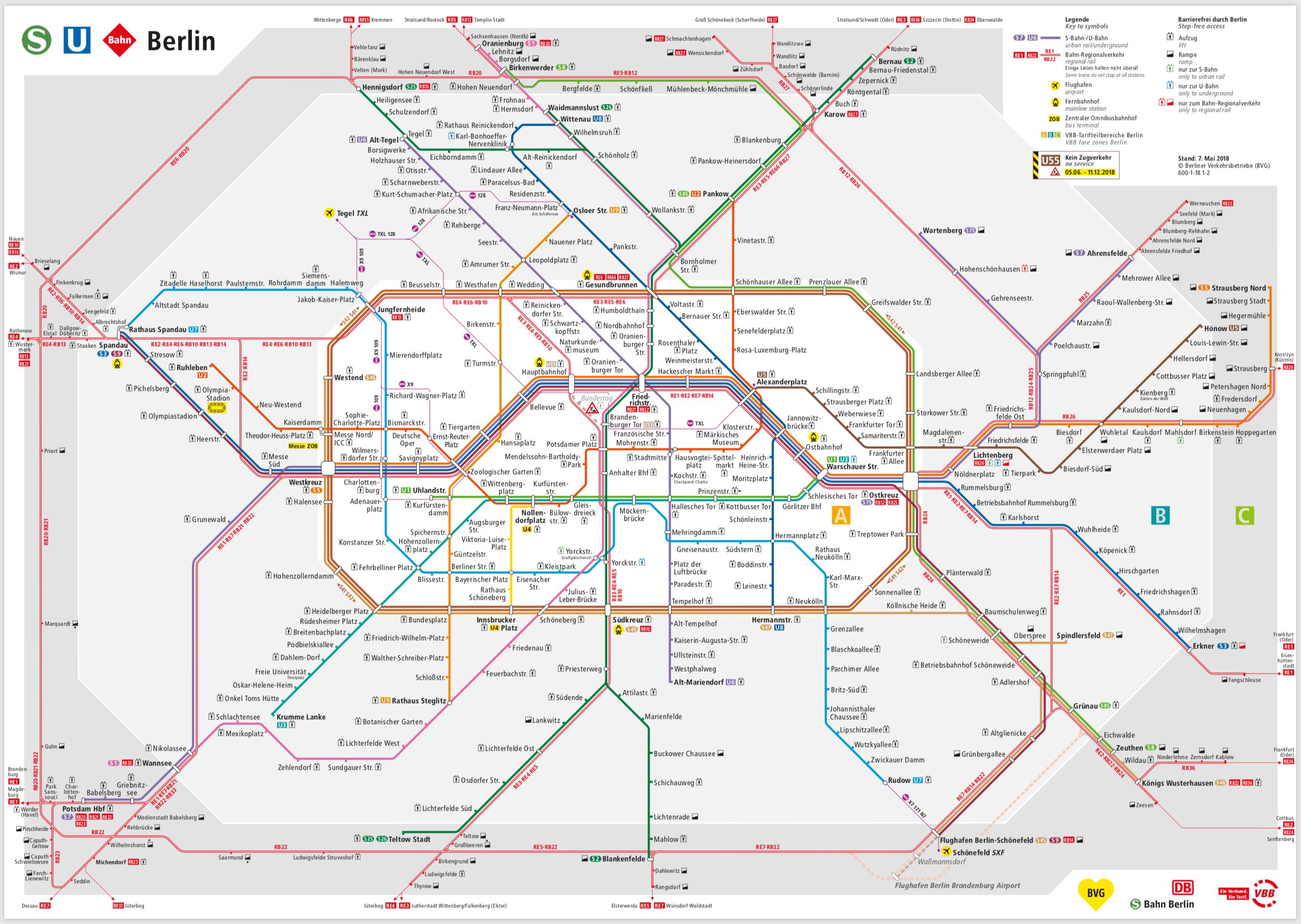 Berlin S U Bahn Map
