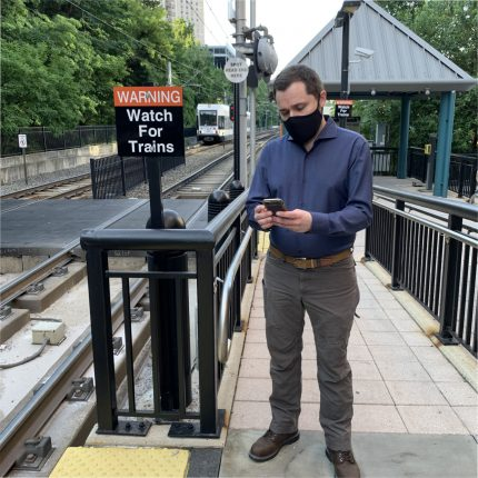 Stewart Mader tests new daily digital tickets for light rail on the NJ Transit app.