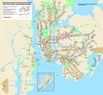 New York & New Jersey Subway Map