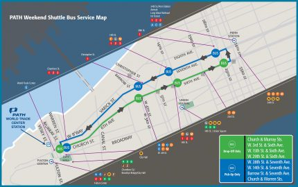2016 PATH Sustitute Bus See Map