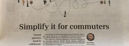 Simplify it for Commuters: op-Ed published by The Record, October 14, 2018. (Photo: Stewart Mader)